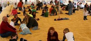 Fun in the Corn Pit!